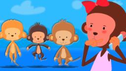 Cinco Pequeños Monos | Niños Canción | Música para niños | Kids Song | Five Little Monkey