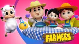 Polly Put The Kettle On | Nursery Rhymes Farmees | Baby Rhymes | Kids Songs | Kindergarten Videos