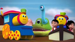 Bob el tren | fila de la fila su barco | 3d Canción de niños | Bob The Train | Row Row Row Your Boat