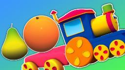 Bob Buah Melatih | Kartun untuk anak-anak | Pendidikan Video | Bob Fruit Train