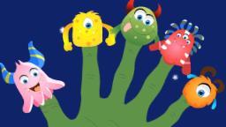 Monsters finger family   nursery rhymes   kids songs   children videos   Scary Rhymes
