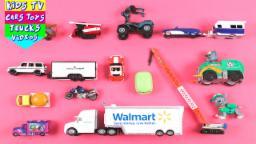 Learn Street Vehicles For Kids Children Babies Toddlers With Walmart Truck Disney Motor Crane Van
