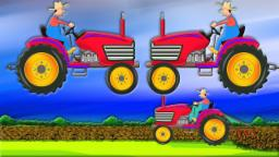 Тракторы б | Автомойка | образовательных видео | Educational Video | Farm Tractor | Car Wash