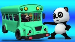 Rodas no ônibus | Rimas para crianças | Canções pré-escolares | Baby Bao Panda | Wheels On The Bus