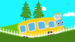 Wheels On The Bus Go Round And Round | Nursery Rhymes With Lyrics