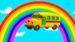 Wheels on the bus nursery rhymes with lyrics | Children's song