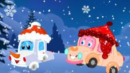 Little Snow Flake | Winter Song For Kids | Children's Car Cartoons