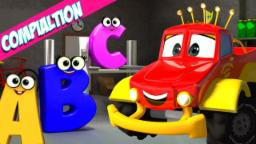Monster Truck Dan | Alphabet Song Compilation | ABC Songs for Kids & Toddlers