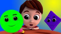 Formas Canción | vivero Rimas | música infantil | Songs For Kids | Kids Rhymes | Shapes Song