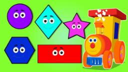 Ben The Train |  shapes song for children | nursery rhymes | 3d rhymes