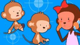 Five Little monos | canciones infantiles para niños | Canciones niños | compilación