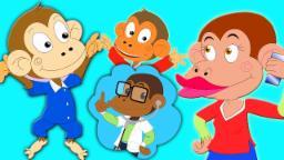 Cinq petit singe | Poèmes pour enfants | enfants musique | Nursery Rhymes Songs | Five Little Monkey
