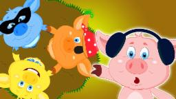 Cinque piccoli porcellini | Cartoon per i capretti | Popolare Nursery canzone | Five Little Piggies