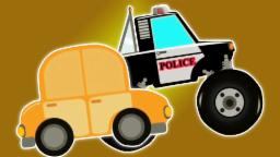 Policía Monstruo camión v/s coche | Carreras Vídeo | Coche para niños | Police Monster Truck v/s Car