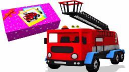 mainan api unboxing truk | kendaraan kompilasi | Video truk anak-anak | Fire Truck | Toy Unboxing