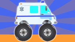 Monster Truck ambulancia   Dibujos animados para los niños   Popular Aventura vídeo