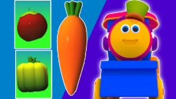kereta sayur Bob | kartun 3D untuk anak-anak | video pendidikan