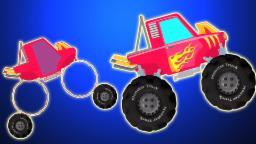 El carro de monstruo | Cartoon para los niños | compilación | Vídeo educativo | Monster Truck