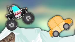 Policía Monster Truck vs de coches | Cartoon para los niños | compilación | Persecución policial