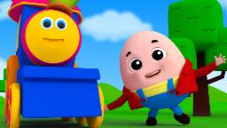 Bob The Train | humpty dumpty sat on a wall | nursery rhymes | kids songs