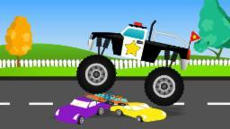 รถบรรทุก มอนสเตอร์ ตำรวจ | Rt̄h brrthuk mxn s̄ texr̒ tảrwc | Monster Truck Police