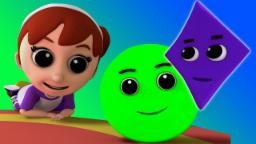 Forma Canção | Rimas para crianças | Rimas de berçário | Song For Kids | 3D Kids Rhyme | Shapes Song