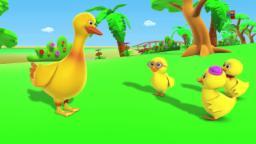 Cinco Patos Pequenos | Rima Para as crianças | Rimas de berçário | Kids Rhyme | Five Little Ducks