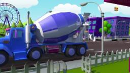 Caminhão basculante | Formação e Usos | Crianças Vídeos | 3D Video | Formation And Uses | Dump Truck