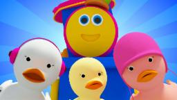 five little ducks | nursery rhyme video | 3d rhymes | preschool learning