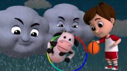 lluvia lluvia Váyase | vivero Rimas | música infantil | 3D Rhymes For Children | Rain Rain Go Away