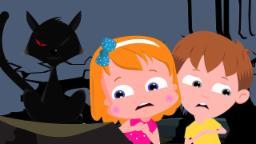 Halloween de Noche | de miedo Canciones para niños | Asustadiza Compilación vídeo | Halloween Night