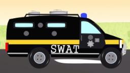 Policía Swat coche garage | Coche para niños | policía Coche | niños vídeo | Police Swat Car garage