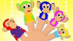 Monkey Finger Family for Babies | Nursery Rhymes for Children and Kids