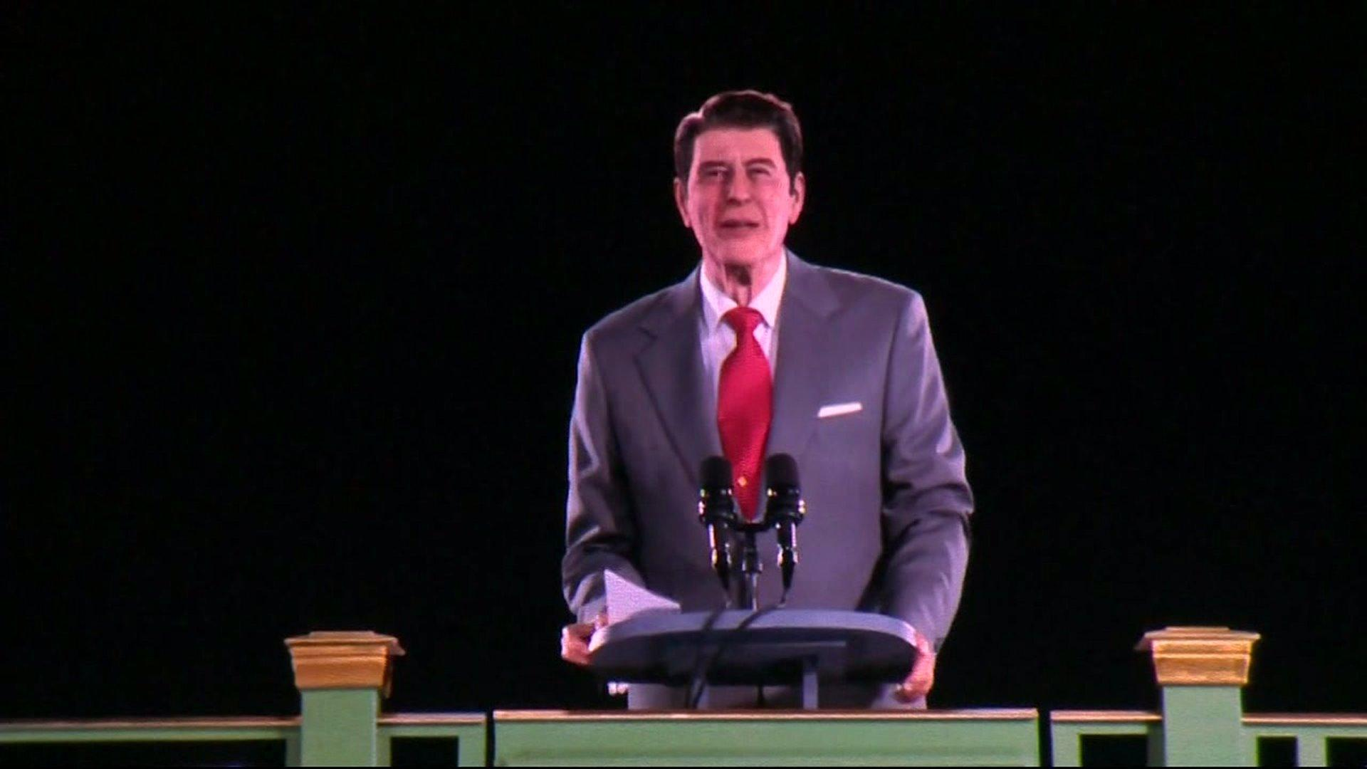 None - President Reagan Hologram Goes Live At His Presidential Library