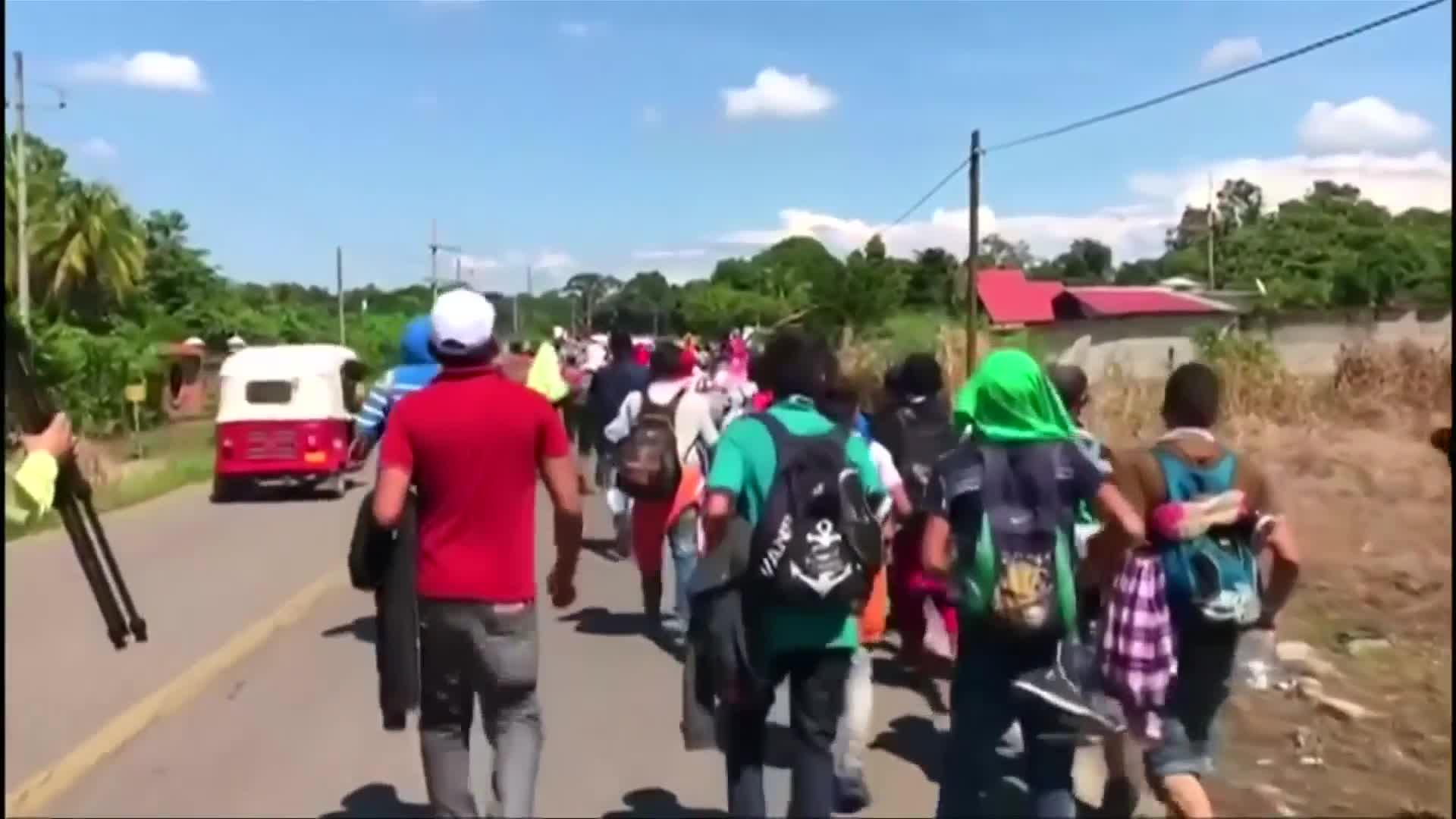 None - Honduran Caravaners Make It Into Southern Mexico